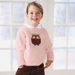 Child's Intarsia Owl Sweater