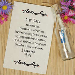 A Wish Came True Personalized Message in a Bottle