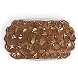 Bold Brown Crystal Charm