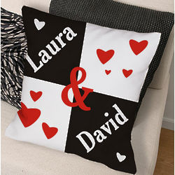 Personalized Just the Two of Us Throw Pillow