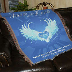 Personalized Forever In Our Hearts Throw Blanket