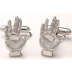 Vulcan Salute Star Trek Cuff Links