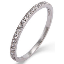 Thin Pave CZ Stackable Band