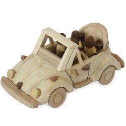 Convertible Car Wood Sculpture