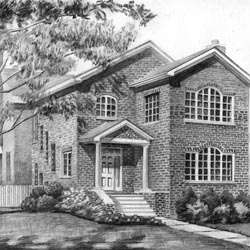 Hand-drawn Pencil Sketch Based on Their House's Photo