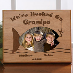 Personalized Hooked on You Fishing Picture Frame