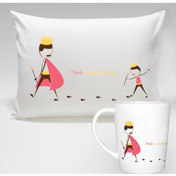 Lucky To Have You Pillowcase And Mug Gift Set