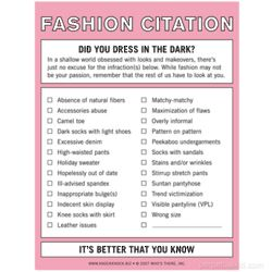 Fashion Citation Notepad