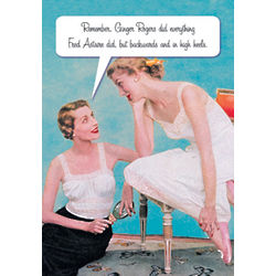 Backwards and In High Heels Mother's Day Card