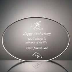Personalized Elegant Elliptical Anniversary Plaque