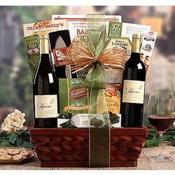 Kiarna Vineyards Chardonnay and Merlot Gift Bakset