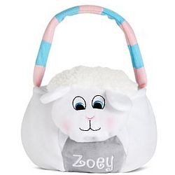 Lamb Personalized Plush Easter Basket
