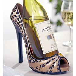 Leopard Splendor Shoe Wine Bottle Holder