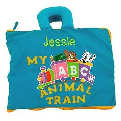 Children's Personalized ABCs Animal Train Travel Bag