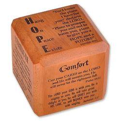 Encouragement Scripture Desk Cube