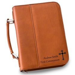 Personalized Large Tan Bible Case