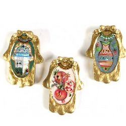 Triple Hamsa Judaica Series
