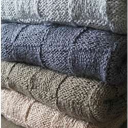 Impressions of Patchwork Hand Knit Throw