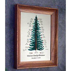 Christmas Family Tree Framed Engraving