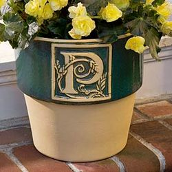 Personalized Glazed Ceramic Bookplate Planter