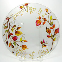 Hand Painted Fall Leaves Plate