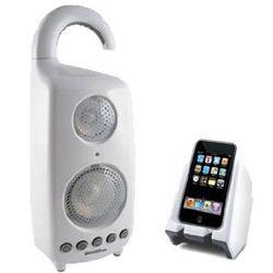 Wireless Waterproof Shower Speaker with Dock Transmitter