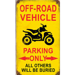 Off Road Parking Metal Sign