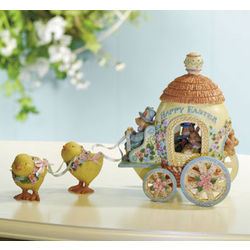 Easter Carriage Figurine