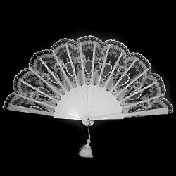 Handmade Traditional Spanish Bridal Hand Fan with Crystals