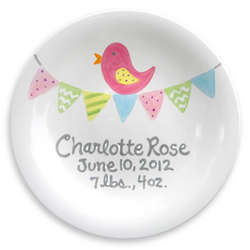 Tiny Tweet Personalized Birth Plate
