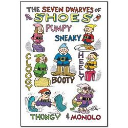 Shoe Dwarves Funny Birthday Card
