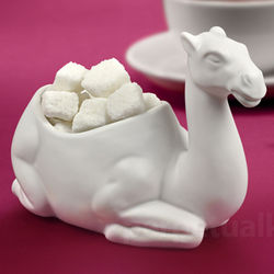 One Lump or Two Porcelain Camel Sugar Bowl