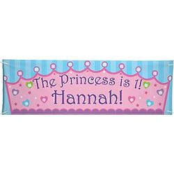 Princess Personalized Oversized Birthday Banner