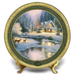 Thomas Kinkade Christmas 2013 Deer Creek Collector's Plate