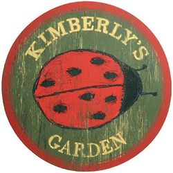 Personalized Ladybug Garden Sign