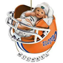 Personalized Baby's First Florida Gators Football Ornament