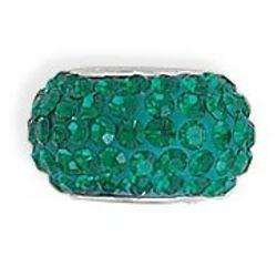 Glamorous Green Crystal Charm