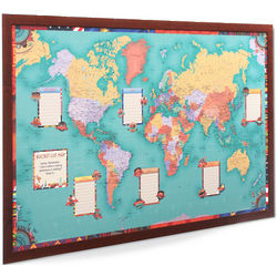 Personalized Bucket List Framed Map