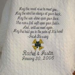 Irish Blessing Personalized Wedding/Anniversary Blanket