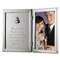 Silver Wedding Frame with Plaque