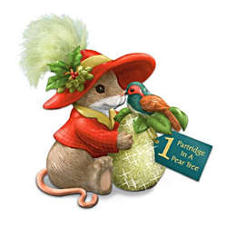 Charming Tails 1 Partridge in A Pear Tree Mouse Figurine