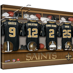 Personalized Canvas NFL Locker Room Print