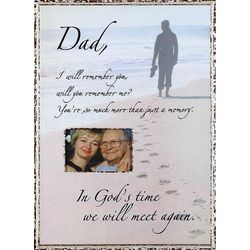 in gods time memorial photo frame for dad