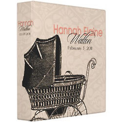 Personalized Pink Baby Buggy Photo Album