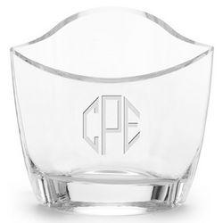 Slant Cut Glass Vase