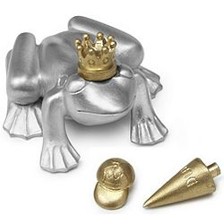 Frog Prince Paperweight with Hats