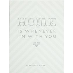 Home Is Whenever I'm With You Personalized Art
