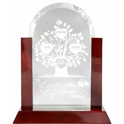 The Life Of Our Family Glass Arch Plaque