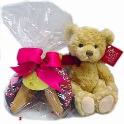Teddy Bear with Personalized Giant Gourmet Fortune Cookie