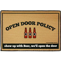 Open Door Beer Policy Doormat